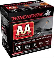 "Winchester Ammo Aam127to Aa Traacker 12 Gauge Overcast Training Heavy 12 Gauge 2.75"" 1-1/8 Oz 7.5 Shot 25 Bx/ 10 Cs AAM127TO"