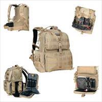 Goutdoors, Inc. Tactical Range Backpack W/Waist Strap Tan Nylon GPS-T1612BPT
