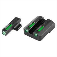 Truglo Tg13hp1a Tfx Day/Night Sights Hk P30 Tritium/Fiber Optic Green W/White Outline Front Green Rear Black TG13HP1A