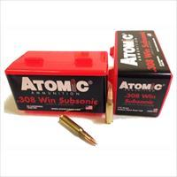 Atomic Ammunition Ammo .308 Win. Subsonic 175Gr. Sierra Bthp 50-Pack 00430