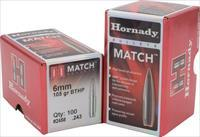 Hornady 263355 Match 6.5Mm 140 Gr 500 Per Box 263355