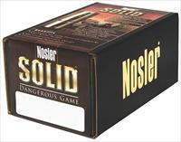 Nosler 28455 Solid Dangerous Game 470 Nitro Express .474 500 Gr 25 Per Box 28455