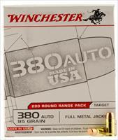 Winchester Ammo Usa380w Usaw 380 Automatic Colt Pistol (Acp) 95 Gr Full Metal Jacket 200 Bx/ 5 Cs USA380W