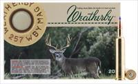 Weatherby B25780ttsx 257 Weatherby Magnum Barnes Tipped Tsx-Bullet 80 Gr 20Rds B25780TTSX