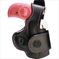 Bond Arms Arms Driving Holster Rh Thumbsnap Black/Pink Stitching BAH-DT-300-BPRBT