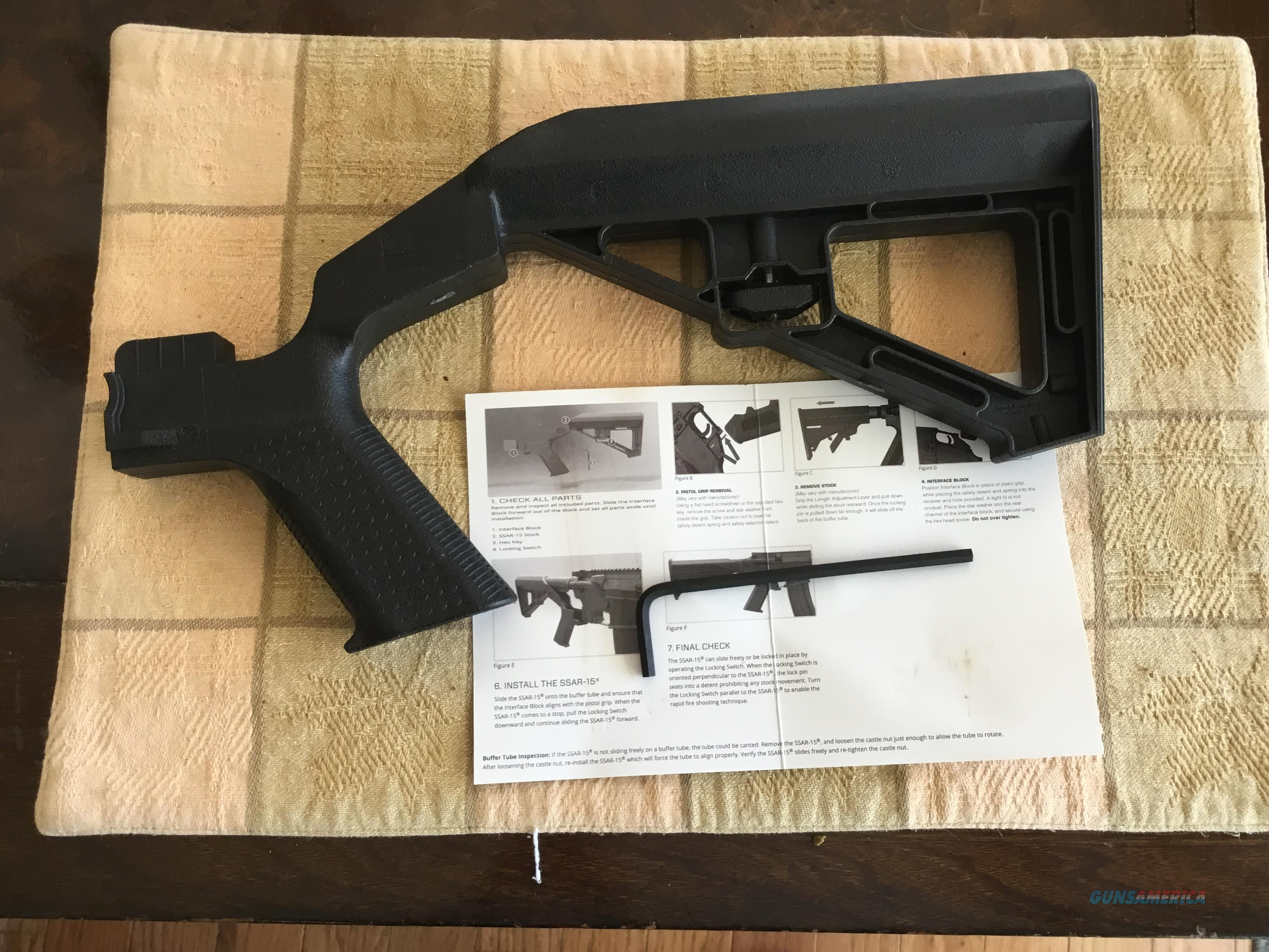 Bump Slide  Stock right hand black