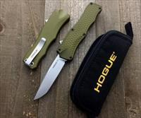 "Hogue Knives OTF Automatic Knife OD Green (3.375"" Stonewash)"
