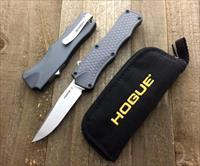 "Hogue Knives OTF Automatic Knife Gray (3.375"" Stonewash"