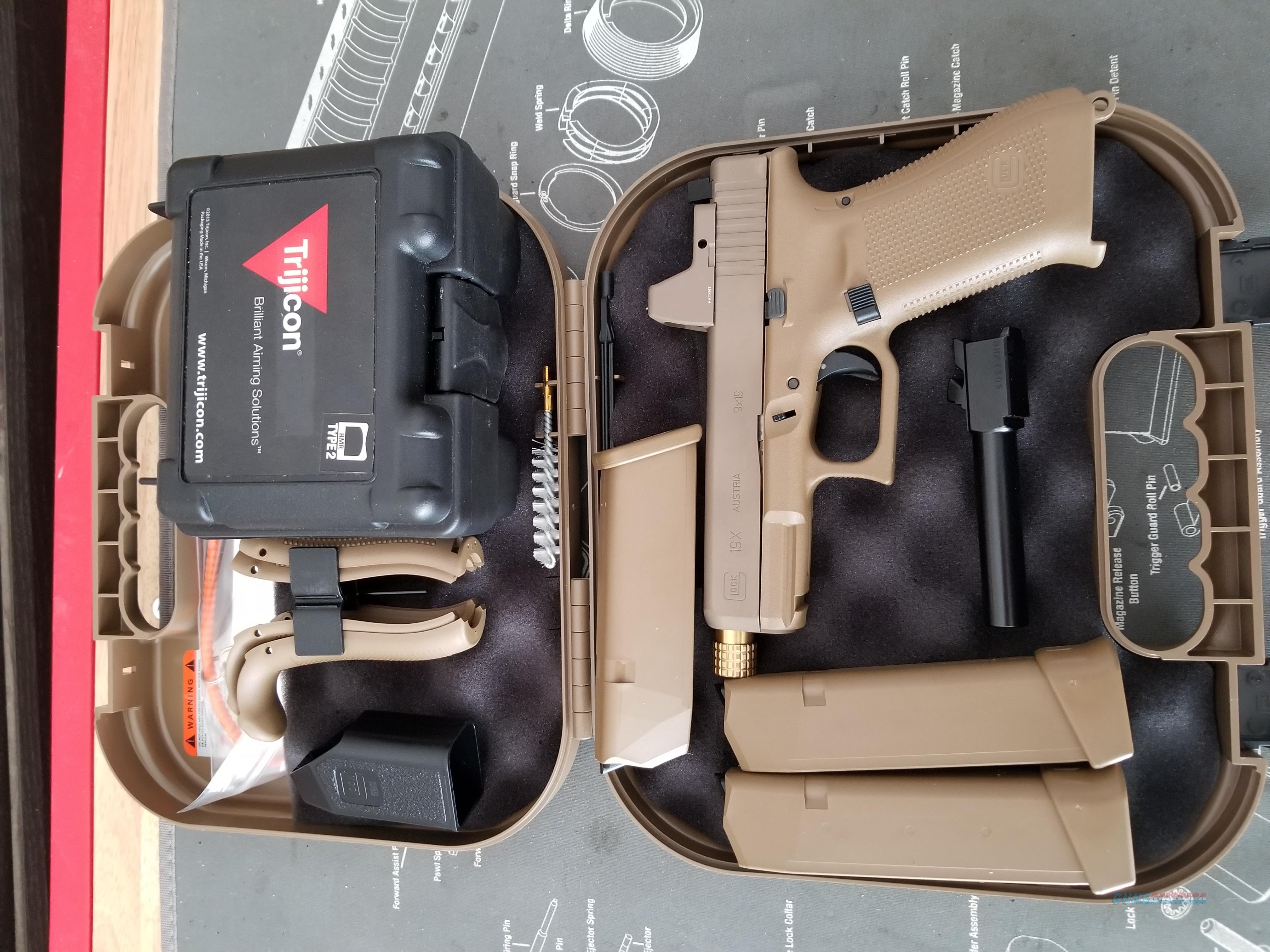 Glock 19X Custom RMR Suppressor Ready