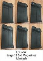 Izhmash Saiga 12 Factory 5rd Shotgun Magazine Lot (6x)