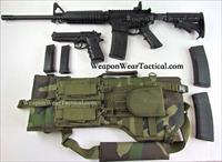 AR 15 Rifle Case Woodland Camo Pistol & Mag Pouch included