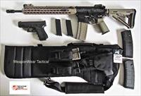 AR 15 Rifle Case Black Pistol & Mag Pouch included