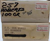 2 Boxes of SK Gun Works 257 Roberts 100GR. Ammo