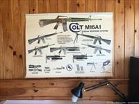 Colt Original M16A1 M203 Color Wall Size Parts Poster