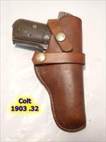 "COLT 1903 .32 3.75"" SAVAGE 1917 FN1900 1100-19 HUNTER Holster for  COLT"