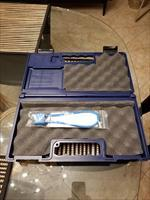 Colt 1911 Large Hard Plastic Blue Case and New Gun Lock