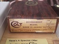 Colt 1911 Government Model Mark IV Series 70 38 Super Box