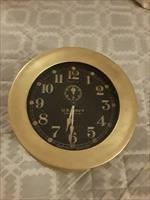 WWI US NAVY Seth Thomas Deck Clock No 1 Ships Clock w Chelsea Key