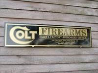 Colt Firearms Re-Production Sign 1'x46'' Free Ship