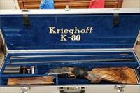 Krieghoff K-80 Super Scroll Gold with Blued receiver and Gold inlay