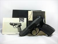 Walther P5 with Box Manual & Target.  Very Nice.