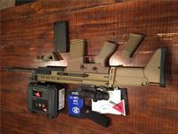 SCAR 17 with Trijicon ACOG TA31F and LaRue mountFN mags / upgraded grip / Magpul/accesories