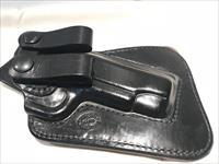 "4"" 1911 Inside the Waistband Ritchie Leather Concealed Close Quarters Leather Holster Double Loop"