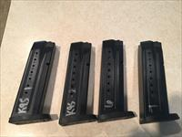 4 S&W MP 9mm mags. 17 round.  Slightly used