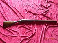 Wm Leech& Sons 12 Ga. Cased SxS Double Barrel Hammer Shotgun