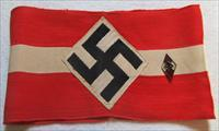WW11 Nazi Hitler Youth Armband and Membership Badge