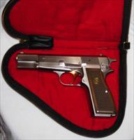 RARE Browning Hi Power Silver Chrome 9mm 1980