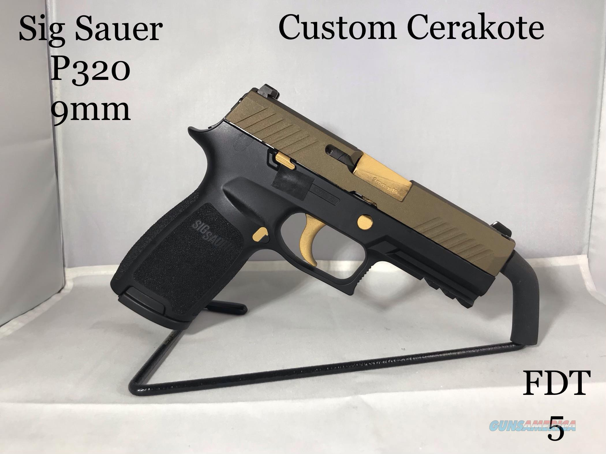 Sig Sauer P320 9mm, Custom Cerakote
