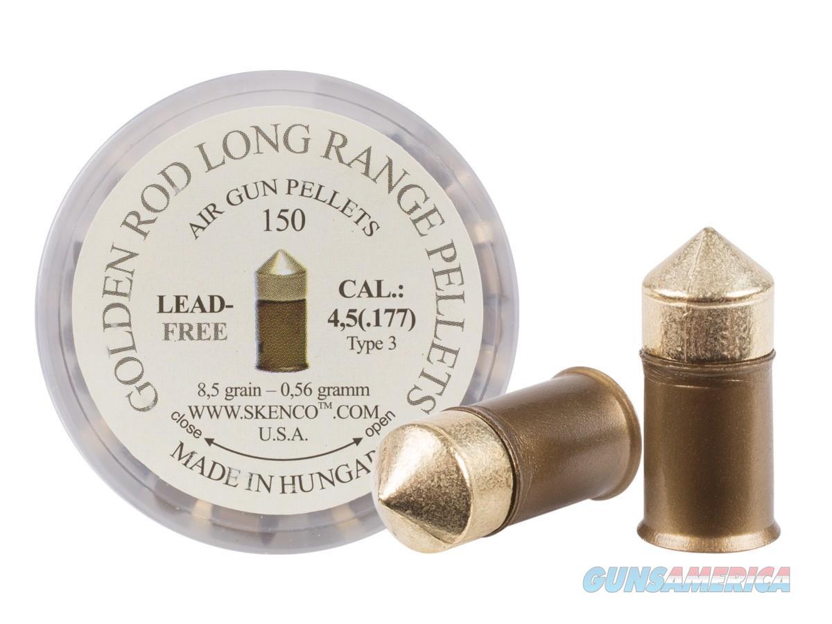 Golden Rod Long-Range Pellets Type 3  177 Cal 8 5 Grains Pointed Lead-Free