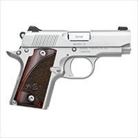 """FREE 10 MONTH LAYAWAY Kimber Micro 9mm, 2.75"""", Stainless Pistol, White Dot Sights, 6rd Magazine, Rosewood grips"""