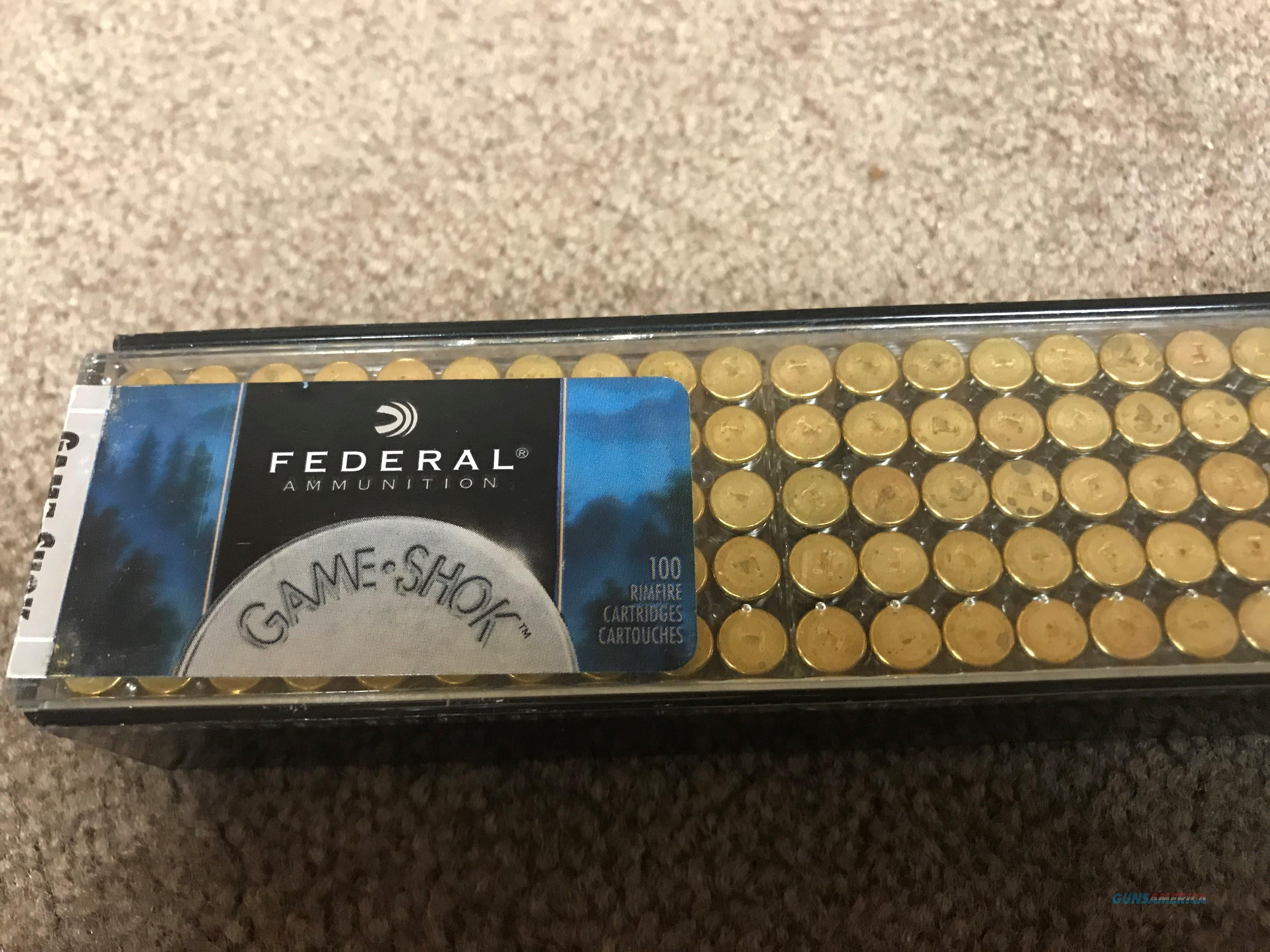 22 LR 22 LONG RIFLE FEDERAL 100 ROUNDS GAME SHOK