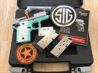 FREE Shipping! Sig Sauer P938 9mm TALO Exclusive Robins Egg Blue!! FREE Sig SWAG!