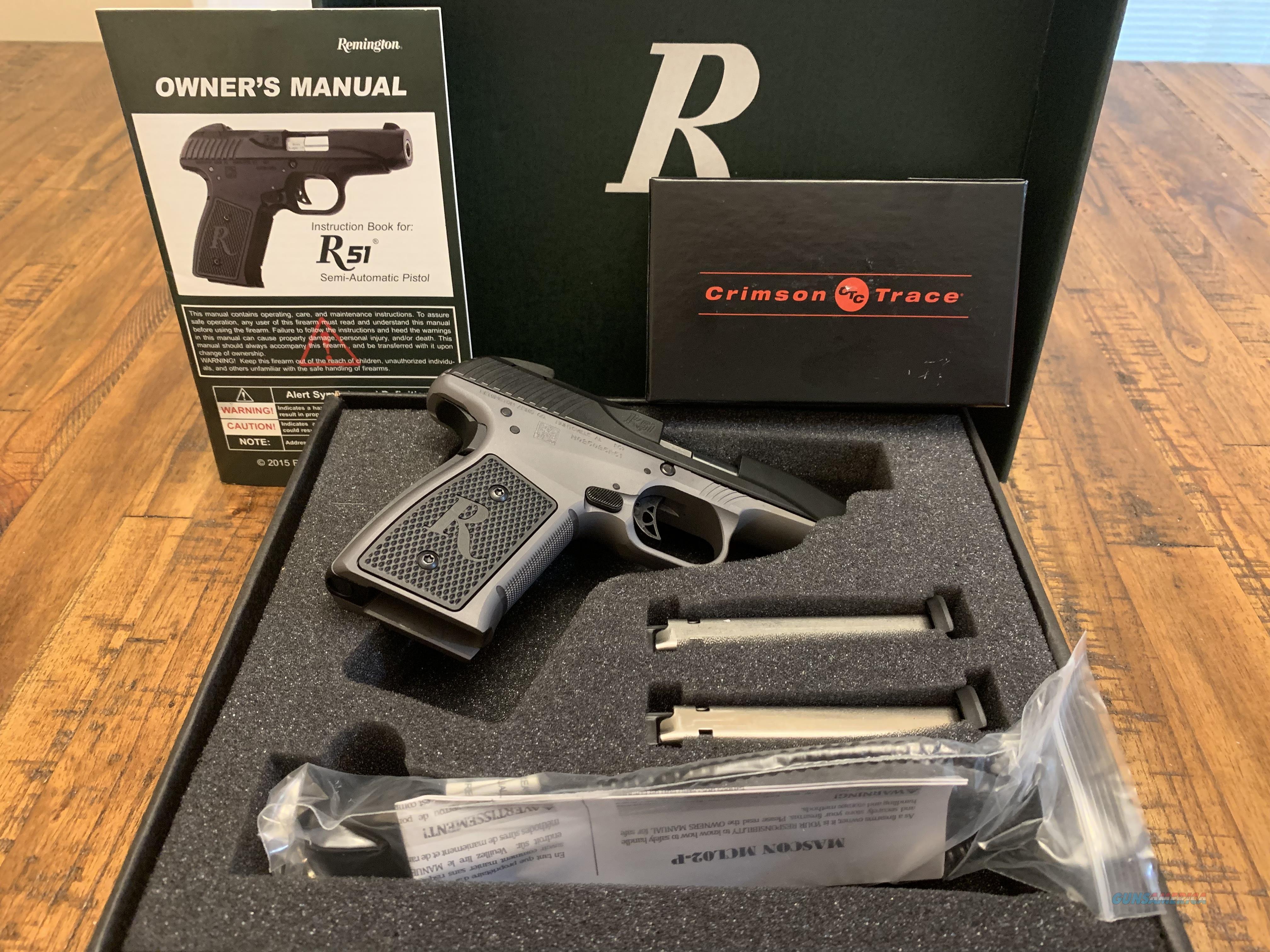 Remington Gen2 R51 9mm with crimson trace laser