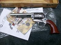 "New Taylor's & Co. Uberti 1873 Cattleman Photo Engraved 45 Colt 5.5"" Barrel"