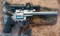 "ruger super redhawk, 44mag, 9.5"" barrel, nikon monarch scope, holster"