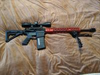 Stag Arms Custom Built AR10 Red Handguard