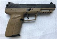FN FIVE-SEVEN BLACK / FLAT DARK EARTH 5.7X28MM 20RD -  UNIQUE, EXOTIC and Hard to Find