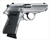WALTHER PPK/S 22LR Polished Nickel, THREADED BARREL