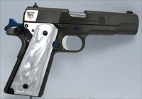 SK Customs Diamond Graphite Grey/Fire Blue, High Polished. Springfield 1911