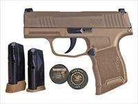 SIG P365  9MM 10+1 COYOTE NRA NS 365-9-COYXR3-NRA19 / 3 MAGS 9mm