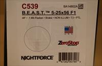 Nightforce BEAST 5-25x56 F1 Zerostop Non-Illum Tremor3 C539