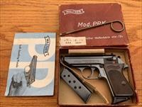 WALTHER PPK MADE IN GERMANY ORIGINAL BOX TOOL MANUAL 2 MAGS 7.65 ( .32 )