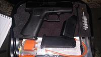 Glock 43X 9mm Luger 2 10 round mags NIB Factory Case, Loader, Cleaning Kit, Best Carry Gun
