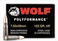 7.62x39 - 123 Grain HP - WOLF WPA Polyformance - 20 Rounds
