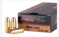 PMC 9MM 115GR JHP 1000 Round Case sealed