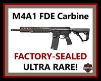 "Daniel Defense M4A1 Carbine FDE (FLAT DARK EARTH) Carbine 14.5"" 5.56 NATO RIS II SOCOM RIFLE, FACTORY-SEALED NEW! NO CC FEE"